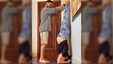 Anushka Sharma ने गर्भावस्थेत आपला पती विराट कोहलीच्या मदतीने केले शीर्षासन, फोटो शेअर करत अभिनेत्रीने व्यक्त केला आनंद, See Pic