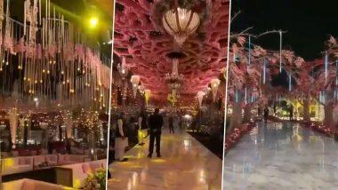 Wedding Decorations: सुरत येथील लग्नात तब्बल 6 कोटींचे डेकोरेशन? फुलांची सजावट, झुंबर, खास बैठक व्यवस्था, पहा व्हायरल होत असलेल्या भव्य समारंभाचा व्हिडिओ
