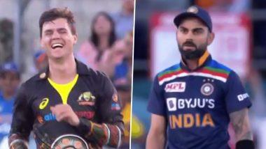 IND vs AUS 1st T20I: Mitchell Swepson याचा विराट कोहली ऑस्ट्रेलियामधील बनला पहिला शिकार, पाहून टीम इंडिया कर्णधाराने दिली अशी प्रतिक्रिया (Watch Video)