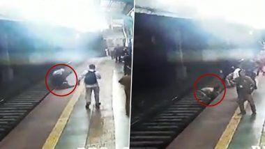 Mumbai: सँडहर्स्ट रोड स्टेशन वर महिलेला वाचवण्यासाठी RPF जवानाची रेल्वे रुळावर उडी (Watch Video)