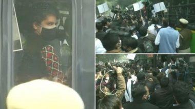 Priyanka Gandhi In Delhi Police Custody: राहुल गांधी यांनी राष्ट्रपतींची भेट घेतल्यानंतर प्रियंका गांधी दिल्ली पोलिसांच्या ताब्यात