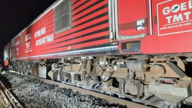 Puri-Surat Express Train Hitting An Elephant: पुरी-सूरत एक्सप्रेस गाडीची हत्तीला धडक, सहा चाके रुळावरुन घसरली