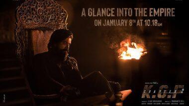 KGF Chapter 2: प्रसिद्ध अभिनेता यश आणि संजय दत्त यांच्या 'केजीएफ चॅप्टर 2' चित्रपटाचे पोस्टर लाँच; 'या' दिवशी होणार टीझर रिलीज