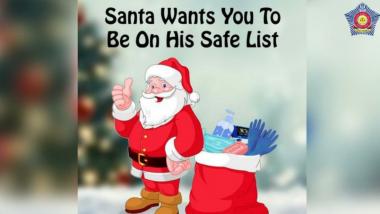 Christmas 2020: तुमची सुरक्षा हेच Santa चे सिक्रेट म्हणत मुंबई पोलिसांनी दिल्या खास अंदाजात नाताळच्या शुभेच्छा