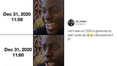 Happy New Years' Eve 2020 Funny Memes & Jokes: नववर्ष पूर्वसंध्येला प्रत्येकाची असणारी मन:स्थिती मीम्स आणि जोक्स द्वारे सोशल मीडियावर सादर; पहा तुम्ही रिलेट करु शकताय का?