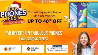 Amazon Fab Phones Fest Sale 2020 सेलला 22 डिसेंबर पासून सुरुवात; Smartphones आणि Accessories वर 40% सूट