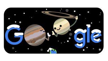 दक्षिणायन व गुरु-शनीची युती होणार असल्याने गुगलचे स्पेशल Google Doodle