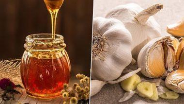 Garlic Honey Health  Benefits: लसूण आणि मध खाऊन त्यावर कोमट पाणी पिल्याने होतात 'हे' आश्चर्यकारक फायदे आहेत