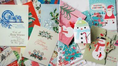 Christmas 2020 DIY Greeting Cards Ideas: घरच्या घरी सांताक्लॉज आणि ख्रिसमस ट्रीसह ग्रीटिंग कार्ड कसे तयार कराल? (Watch Tutorial Videos)