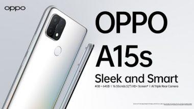 भारतात 'Oppo A15s ' स्मार्टफोन विक्रीस उपलब्ध; जाणून घ्या किंमत आणि खास ऑफर्स