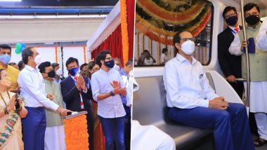 Mumbai Metro: स्वदेशी चालकरहित मेट्रोचे मुख्यमंत्री उद्धव ठाकरे यांच्या हस्ते झाले अनावरण, पाहा फोटोज