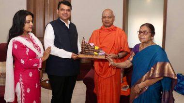 Ayodhya राम मंदिरासाठी विरोधी पक्षनेते देवेंद्र फडणवीस यांनी दिली एक लाख एक रुपयांची देणगी