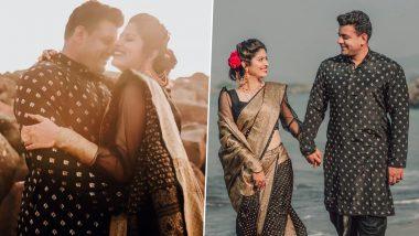 Abhindya Bhave आपल्या पती मेहुल पै सह मकर संक्रांती निमित्त काळ्या वेशात समुद्र किना-यावर केले खास फोटोशूट, See Pics
