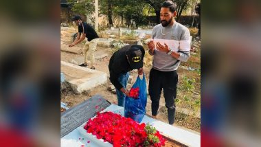 ऑस्ट्रेलिया दौऱ्याहून हैदराबादला परतल्यावर Mohammed Siraj याने वडिलांच्या कब्रला दिली भेट, पहा Photo