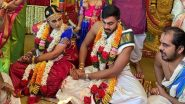 Vijay Shankar Gets Married: SRH संघाचा अष्टपैलू विजय शंकर याचं 'शुभमंगल सावधान', मंगेतर वैशाली विश्वेश्वरनशी बांधली लग्नगाठ