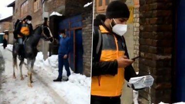 Kashmir च्या बर्फाच्छादित रस्त्यांवर Amazon Delivery Boy घोडेस्वारी करत पोहचवतोय पार्सल; Viral Video मधून समोर आली व्यवसायातील कल्पकता