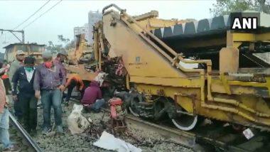 Central Railway Ambernath Karjat: मध्य रेल्वे मार्गावर 1 ठार, तीन जखमी, वाहतूक विस्कळीत; रूळ दुरुस्त करणारी मशिन घसरल्याने अपघात