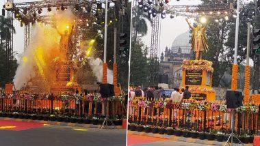 मुंबई: मुख्यमंत्री उद्धव ठाकरे यांच्या हस्ते शिवसेनाप्रमुख बाळासाहेब ठाकरे यांच्या पूर्णाकृती पुतळ्याचे अनावरण, पाहा या क्षणाचे सुंदर फोटोज, See Pics