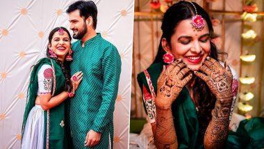 Mitali Mayekar Mehendi Ceremony: मिताली मयेकर च्या हातावर चढला सिद्धार्थ चांदेकर च्या प्रेमाचा रंग, पाहा मेहंदी सेरेमनीचे सुंदर फोटोज, See Pics
