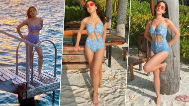 Sara Ali Khan Hot Bikini Photos: सारा अली खान निळ्या बिकिनीतील हॉट फोटोजनी चाहत्यांवर घातली मोहिनी, पाहा मालदिव्समधील तिचे Sexy Pics
