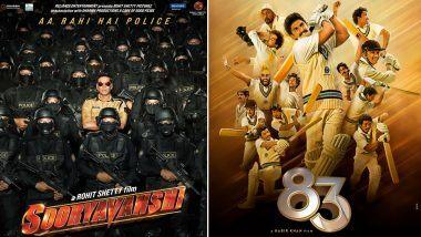 Sooryavanshi and 83 Release: जानेवारी 2021 च्या शेवटच्या आठवड्यात होऊ शकते 'सूर्यवंशी' आणि '83' चित्रपटाच्या रिलीज डेटची घोषणा!