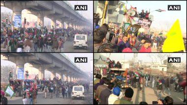 Tractor Parade On Indian Republic Day 2021: दिल्ली-हरियाणा तिकरी बॉर्डरवर शेतकऱ्यांनी बॅरिकेड्स तोडले; पोलिसांकडून शांततेचे अवाहन