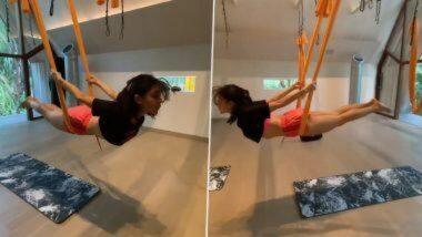 Sara Ali Khan Workout Video: बॉलिवूड अभिनेत्री सारा अली खान चा एरियल योगा व्हिडिओ पाहून चाहते झाले हैराण; पहा व्हिडिओ