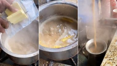 Butter in Chai: तुम्ही कधी बटर घालून बनवलेला चहा प्यायला आहात?आग्रा मधील या विचित्र चहाचा व्हिडिओ होतोय व्हायरल