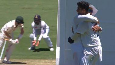 IND vs AUS 4th Test 2021: वॉशिंग्टन सुदंरने पहिली टेस्ट विकेट म्हणून स्टिव्ह स्मिथला दाखवला पॅव्हिलियनचा रस्ता, रोहित शर्माने पकडला जबरदस्त कॅच, पहा Video