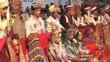 पाकिस्तान मधील कराची मध्ये पार पडला 50 हिंदू जोडप्यांचा सामूहिक विवाह सोहळा ( Watch Video)