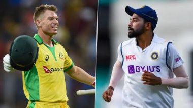 Sorry to Indian Team: सिडनीत घडलेल्या 'त्या' प्रकारानंतर डेव्हिड वार्नर याने मागितली मोहम्मद सिराज आणि भारतीय संघाची माफी