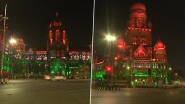 Republic Day 2021: तिरंगी रंगात सजली मुंबई; प्रजासत्ताक दिनानिमित्त छत्रपती शिवाजी महाराज टर्मिनस आणि महानगरपालिकेच्या इमारतीला विद्युत रोषणाई