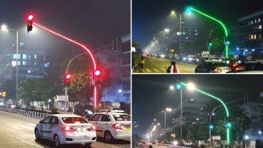 Mumbai LED Traffic Signal: मुंबईचा रस्ता आणखी चमकणार; सिग्नलचा नवा लूक सोशल मीडियावर प्रचंड व्हायरल, पाहा फोटो