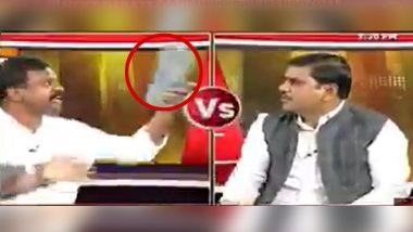 Amaravati: Live TV Debate मधील धक्कादायक प्रकार; कार्यकर्ते Kolikapudi Srinivasa Rao यांनी भाजप नेते Vishnu Vardhan Reddy यांच्यावर भिरकावली चप्पल (Watch Video)