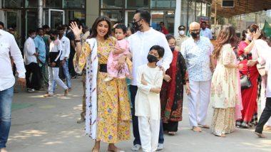 Shilpa Shetty ने लेक Samisha च्या पहिल्या वाढदिवसानिमित्त घेतलंं प्रभादेवीच्या सिद्धिविनायकाचं दर्शन!