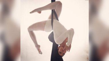 Jacqueline Fernandez ने इंस्टाग्रामवर शेअर केले Aerial Yoga करतानाचे खास फोटो; See Photos