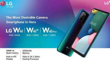 LG कंपनीचा भारतीय बाजारात ट्रिपल धमाका! लाँच केले W41 सीरिजचे 3 स्मार्टफोन्स