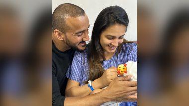 Anita Hassanandani आई झाल्यानंतर आपल्या बाळाला हातात घेतल्याचा फोटो सोशल मिडियावर केला शेअर, See Pic