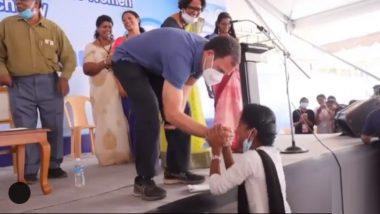 Rahul Gandhi यांची स्वाक्षरी घेताना ती रडायलाच लागली; मग राहुल गांधींनी घेतली गळाभेट, फोटोही काढला (पाहा Video)
