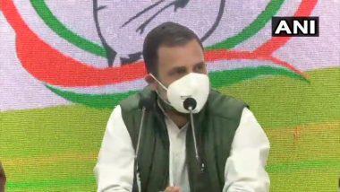 Rahul Gandhi on Farmers Protest: कृषी कायद्यावर शेतकरी ठाम, सरकारलाच मागे हटावे लागेल- राहुल गांधी