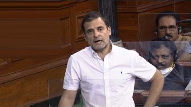 Rahul Gandhi in Lok Sabha: राहुल गांधी यांचे पंतप्रधान नरेंद्र मोदी यांच्यावर टीकास्त्र म्हणाले 'सरकार केवळ 'हम दो, हमारे दो' यांच्यासाठी काम करतंय'