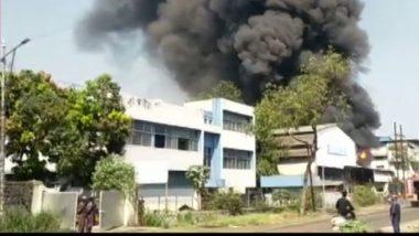 Taloja MIDC Fire: नवी मुंबईत तळोजा एमआयडीसी रासायनिक कारखान्याला भीषण आग; अग्निशमन दलाकडून आगीवर नियंत्रण मिळवण्याचे शर्थीचे प्रयत्न सुरू