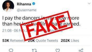 Fact Check: गायक Rihanna आपल्या डान्सर्संना Kangana Ranaut च्या 5 चित्रपटांपेक्षा जास्त पैसे देत? जाणून घ्या व्हायरल ट्विट मागील सत्य