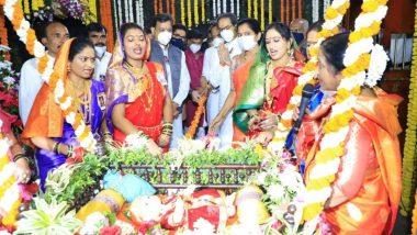 Shiv Jayanti 2021: शिवजयंती निमित्त शिवनेरी किल्ल्यावर असा साजरा झाला 391 वा शिवजन्म  सोहळा!