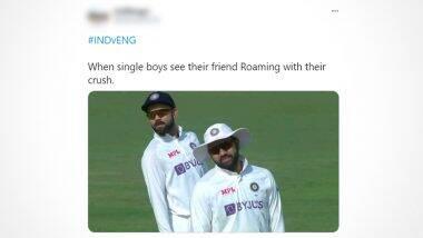 Virat Kohli, Rohit Sharma's Picture Turns Into Meme Fest: विराट कोहली, रोहित शर्मा यांच्या चेन्नई टेस्ट सामन्यातील 'त्या' फोटोवर मिम्स व्हायरल, पहा Tweets