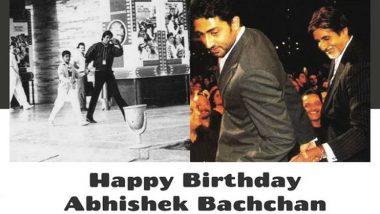 Abhishek Bachchan Birthday: अभिषेक बच्चन याच्या वाढदिवसानिमित्त बिग बी यांनी दोन फोटोंमधून सांगितला बापलेकाच्या नात्याचा सुंदर प्रवास, See Pic