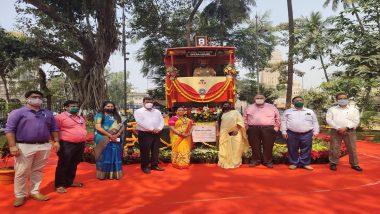 Mumbai: फोर्ट येथे मुंबईकरांना पाहायला मिळणार ऐतिहासिक 'ट्राम'; महापौर किशोरी पेडणेकर यांच्या हस्ते लोकापर्ण (See Pics)