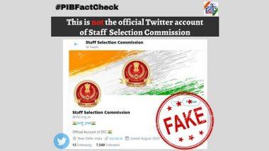 Staff Selection Commission चं अधिकृत ट्वीटर अकाऊंट  @SSCorg_in? PIB Fact Check ने फेक ट्वीटर अकाऊंट बद्दल केला खुलासा