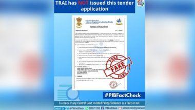 Fact Check: LTE मोबाईल टॉवर्स बसवण्यासाठी 12,500 रुपये जमा करण्याचे TRAI कडून कंपनीला Tender? PIB ने केला खुलासा