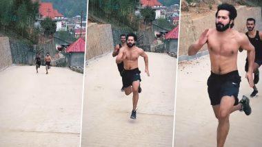 Bhediya सिनेमाच्या सेट वरुन Varun Dhawan चा Running Video आला समोर; पहा अभिनेत्याचा डॅशिंग अंदाज